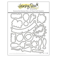 Honey Bee Stamps - Vintage Holiday Collection - Honey Cuts - Steel Craft Dies - New Year Cheers