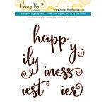 Honey Bee Stamps - Honey Cuts - Steel Craft Dies - Happiness