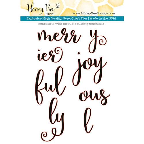 Honey Bee Stamps - Christmas - Honey Cuts - Steel Craft Dies - Merry and Joy