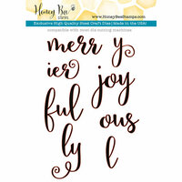 Honey Bee Stamps - Christmas - Honey Cuts - Steel Craft Dies - Merry and Joy