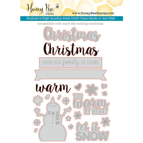 Honey Bee Stamps - Christmas - Honey Cuts - Steel Craft Dies - Let It Snow