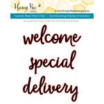 Honey Bee Stamps - Honey Cuts - Steel Craft Dies - Welcome Baby Words