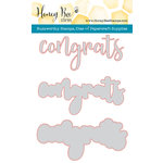 Honey Bee Stamps - Honey Cuts - Steel Craft Dies - Congrats