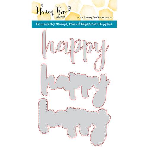 Honey Bee Stamps - Honey Cuts - Steel Craft Dies - Happy
