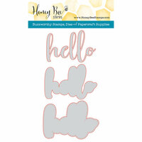 Honey Bee Stamps - Honey Cuts - Steel Craft Dies - Hello
