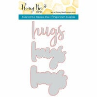 Honey Bee Stamps - Honey Cuts - Steel Craft Dies - Hugs