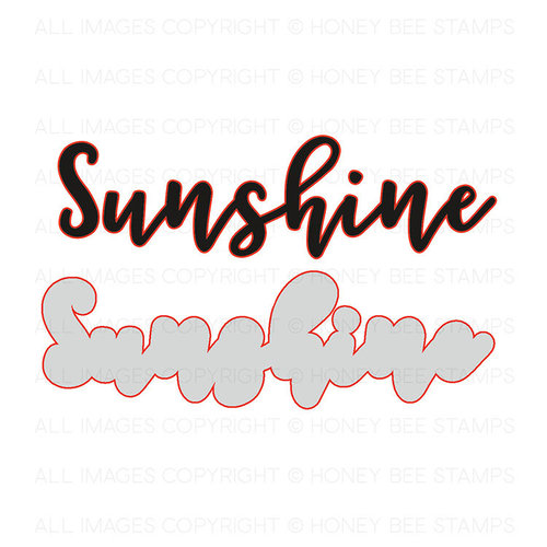 Honey Bee Stamps - Honey Cuts - Steel Craft Dies - Ray Of Sunshine