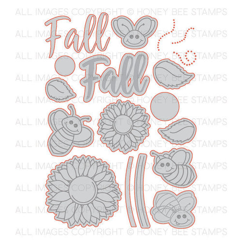 Honey Bee Stamps - Honey Cuts - Steel Craft Dies - Happy Fall Y