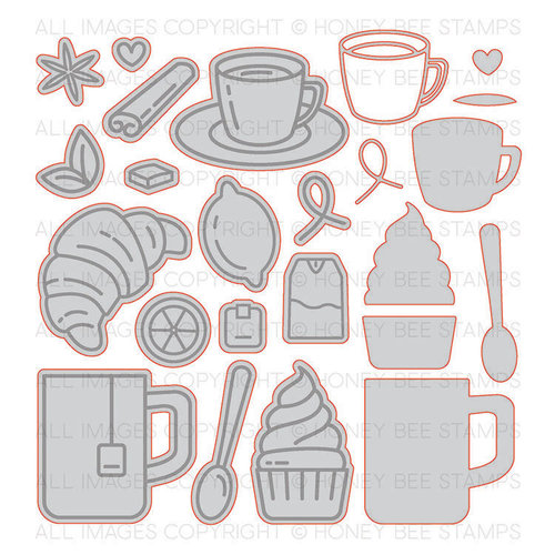 Honey Bee Stamps - Honey Cuts - Steel Craft Dies - Tea Time