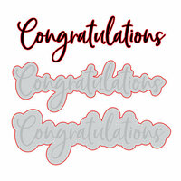 Honey Bee Stamps - Honey Cuts - Steel Craft Dies - Congratulations