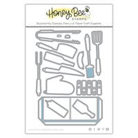 Honey Bee Stamps - Let's Celebrate Collection - Honey Cuts - Steel Craft Dies - Apron - BBQ Add-On