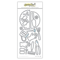 Honey Bee Stamps - Let's Celebrate Collection - Honey Cuts - Steel Craft Dies - Apron - Garden Tools Add-On