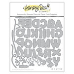 Honey Bee Stamps - Honey Cuts - Steel Craft Dies - Balloon Alphabet