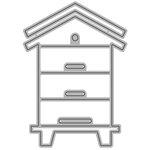 Honey Bee Stamps - Honey Cuts - Steel Craft Dies - Bee Hive Box