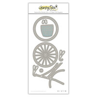 Honey Bee Stamps - Summer Stems Collection - Honey Cuts - Steel Craft Dies - Bicycle Builder