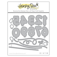 Honey Bee Stamps - Honey Cuts - Steel Craft Dies - Balloon Numbers