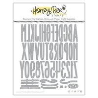 Honey Bee Stamps - Dies - Bee Narrow Uppercase Alpha