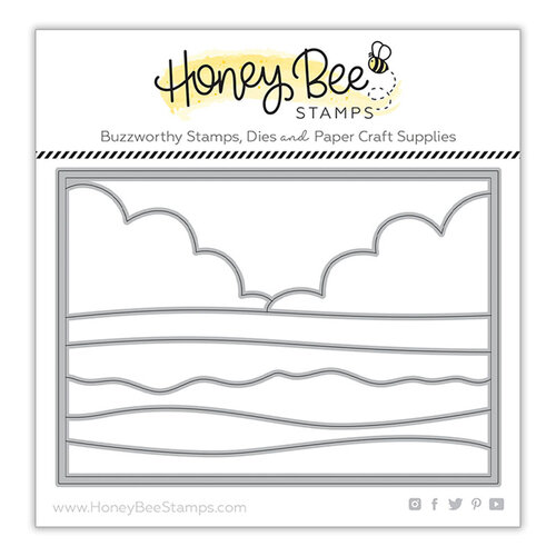 Honey Bee Stamps - Paradise Collection - Dies - Beach Scene Cover Plate