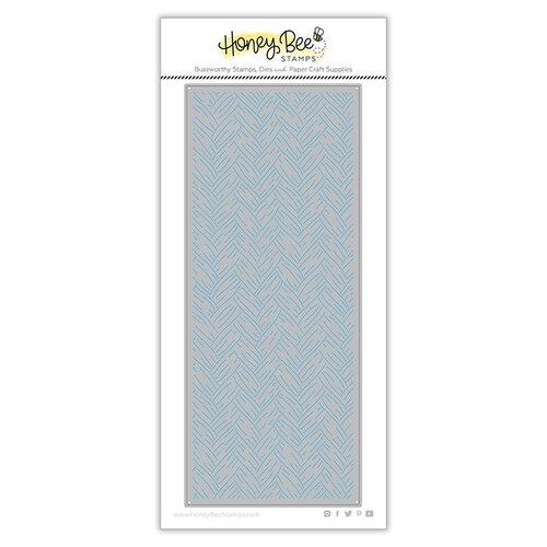 Honey Bee Stamps - Dies - Honey Cuts - Slimline - Basketweave Cover Plate