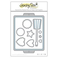 Honey Bee Stamps - Let's Celebrate Collection - Honey Cuts - Steel Craft Dies - Cookie Sheet
