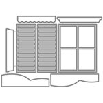 Honey Bee Stamps - Honey Cuts - Steel Craft Dies - Cottage Window
