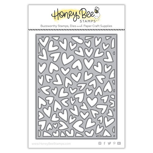 Honey Bee Stamps - Bee Mine Collection - Honey Cuts - Steel Craft Dies - Fluttering Hearts Cover Plate