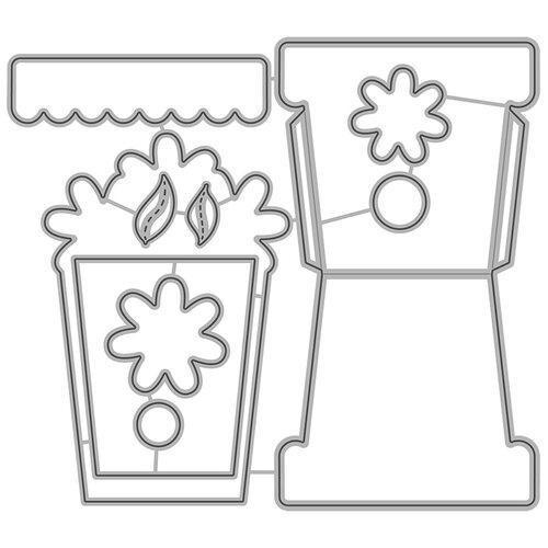 Honey Bee Stamps - Honey Cuts - Steel Craft Dies - Flower Pot Card