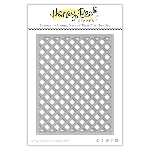 Honey Bee Stamps - Paradise Collection - Dies - Garden Lattice Cover Plate - Top