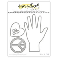 Honey Bee Stamps - Summer Stems Collection - Honey Cuts - Steel Craft Dies - Helping Hand