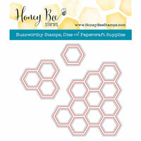 Honey Bee Stamps - Honey Cuts - Steel Craft Dies - Hexagon Bunches
