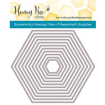 Honey Bee Stamps - Honey Cuts - Steel Craft Dies - Hexagon Solid Stack