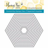 Honey Bee Stamps - Honey Cuts - Steel Craft Dies - Hexagon Stitched Stack