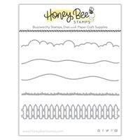 Honey Bee Stamps - Dies - Honey Cuts - Horizon Slimline Borders