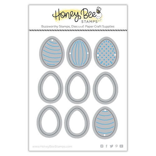 Honey Bee Stamps - Dies - Honey Cuts - Itty Bitty Eggs