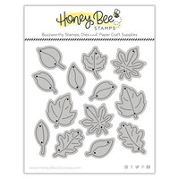 Honey Bee Stamps - Dies - Honey Cuts - Itty Bitty Leaves