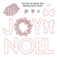Honey Bee Stamps - Christmas - Honey Cuts - Steel Craft Dies - Joy Noel Wreath