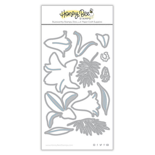 Honey Bee Stamps - Dies - Honey Cuts - Lovely Layers - Easter Lily
