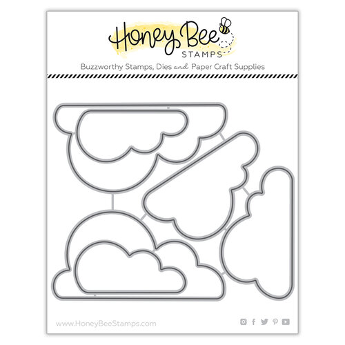 Honey Bee Stamps - Bee Mine Collection - Honey Cuts - Steel Craft Dies - Large Clouds
