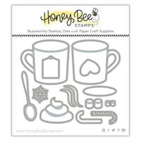 Honey Bee Stamps - Vintage Holiday Collection - Honey Cuts - Steel Craft Dies - Mugs & Kisses