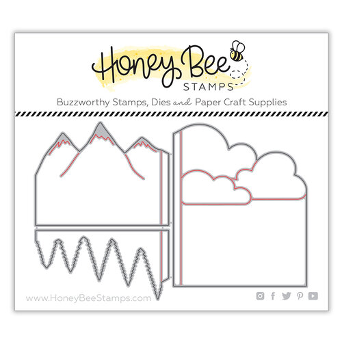 Honey Bee Stamps - Bee Mine Collection - Honey Cuts - Steel Craft Dies - Mountain Z-Fold