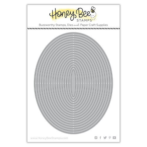 Honey Bee Stamps - Paradise Collection - Dies - Oval thin Frames
