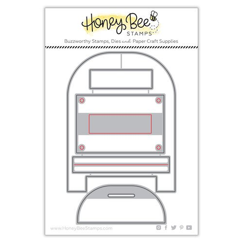 Honey Bee Stamps - Bee Mine Collection - Honey Cuts - Steel Craft Dies - Post Box Card Base