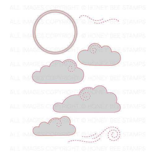 Honey Bee Stamps - Honey Cuts - Steel Craft Dies - Partly Cloudy