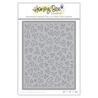 Honey Bee Stamps - Bee Mine Collection - Honey Cuts - Steel Craft Dies - Fluttering Hearts Pierced Cover Plate