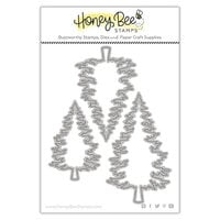 Honey Bee Stamps - Vintage Holiday Collection - Honey Cuts - Steel Craft Dies - Pine Trees