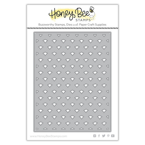 Honey Bee Stamps - Paradise Collection - Dies - Pineapple Lattice Cover Plate - Base