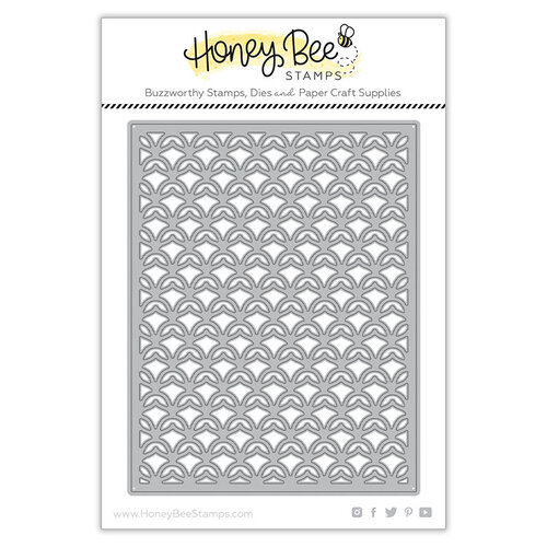 Honey Bee Stamps - Paradise Collection - Dies - Pineapple Lattice Cover Plate - Top