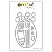 Honey Bee Stamps - Summer Stems Collection - Honey Cuts - Steel Craft Dies - Paint and Palette