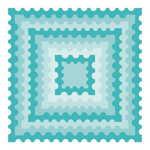 Honey Bee Stamps - Honey Cuts - Steel Craft Dies - Postage Stamp Squares