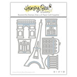Honey Bee Stamps - Love Letters Collection - Dies - Honey Cuts - Paris Skyline Scene Builder
